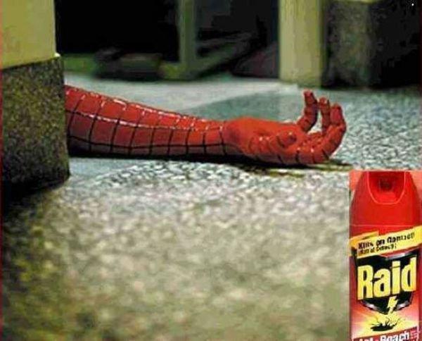 Реклама средства против насекомых Рейд