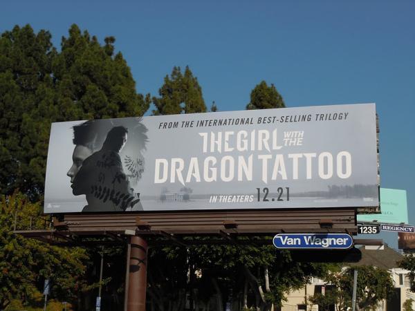 Реклама фильма Девушка с татуировкой дракона