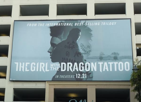 Билборд фильма Девушка с татуировкой дракона