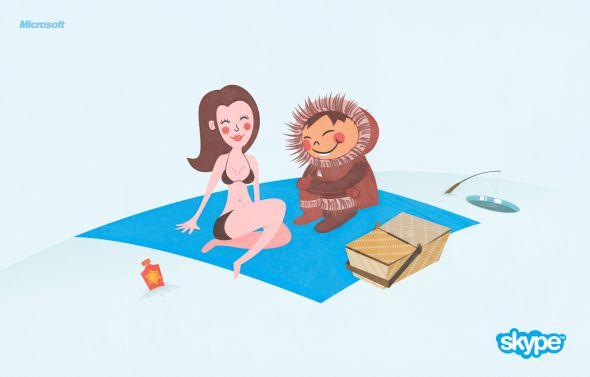 Реклама Скайп - пикник