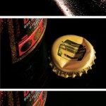 Реклама против пьяных водителей на крышке пива