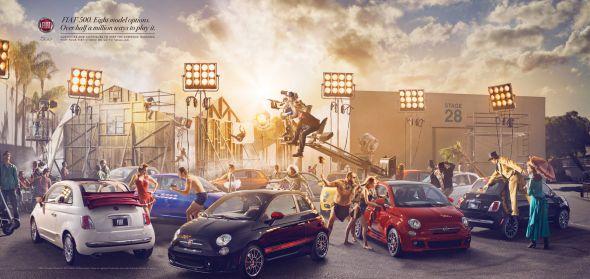 Реклама автомобиля Фиат