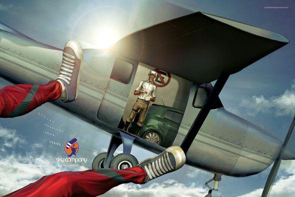 Реклама скайдайвинга