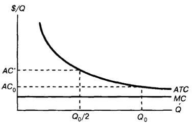Раздел рынка при возрастающем эффекте масштаба