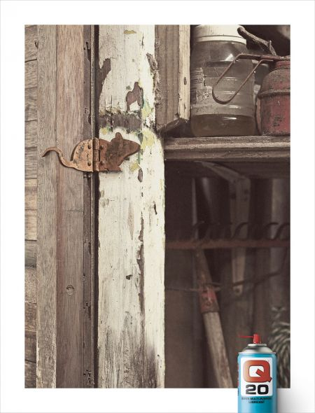 Реклама смазки для петель