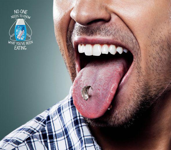 Креативная реклама зубной нити