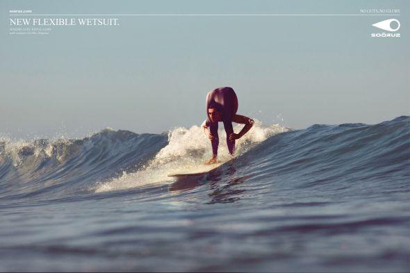 Реклама костюма для серфинга