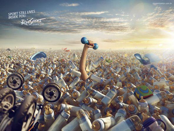 Реклама спортивного центра