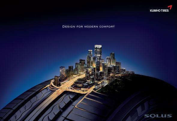 Реклама шин для города