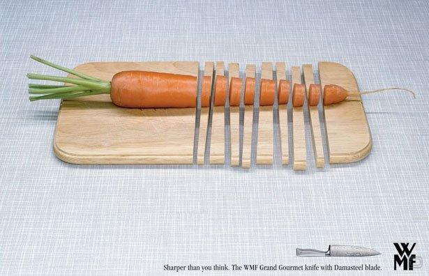 Креатив к рекламе ножей