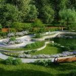 Ландшафтный дизайн в коттеджных поселках