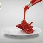 Реклама очень вкусного кетчупа Heinz