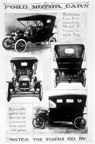 Старая реклама автомобиля Ford