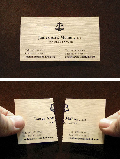 Креативная визитка адвоката