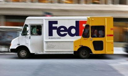 Потрясающая реклама Федкс на автобусе