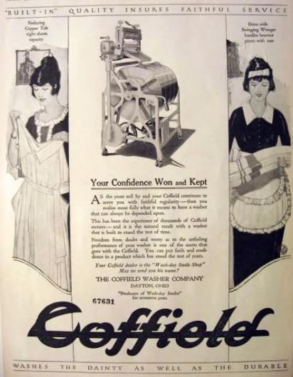 Реклама стиральной машины Coffield
